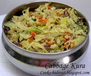 Cabbage Curry in a Hurry