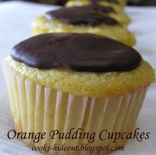 Orange Pudding Cupcakes