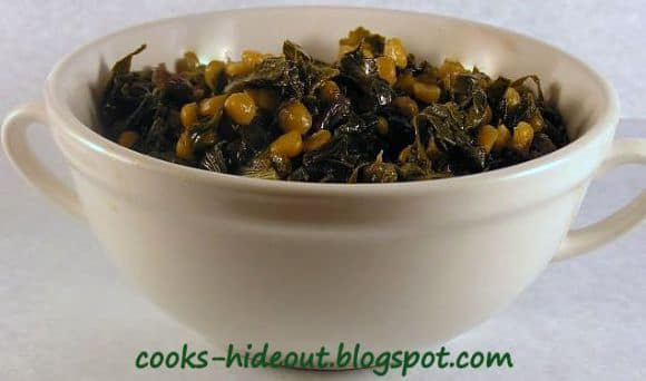 Kohlrabi Greens curry