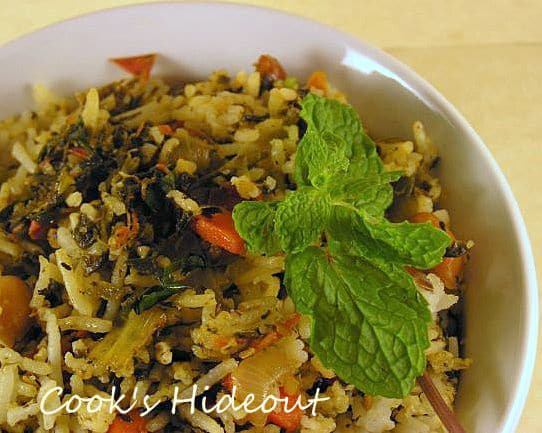 Spinach-Tomato Rice