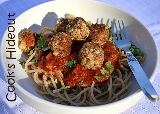 Tofu Balls with Spaghetti
