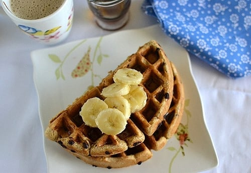 Almond Butter & Chocolate Chip Waffles