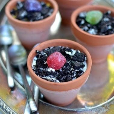 Kid\u0027s Flower Pot Dessert & Kid\u0027s Flower Pot Dessert Recipe | cookshideout