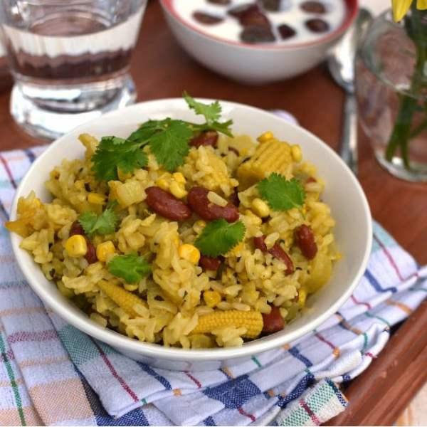 Corn & Rajma Pulao