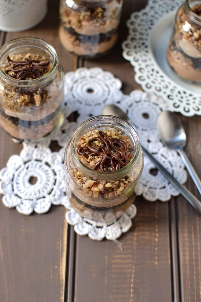 Individual No-Bake Chocolate Cheesecakes (in baby bottles)