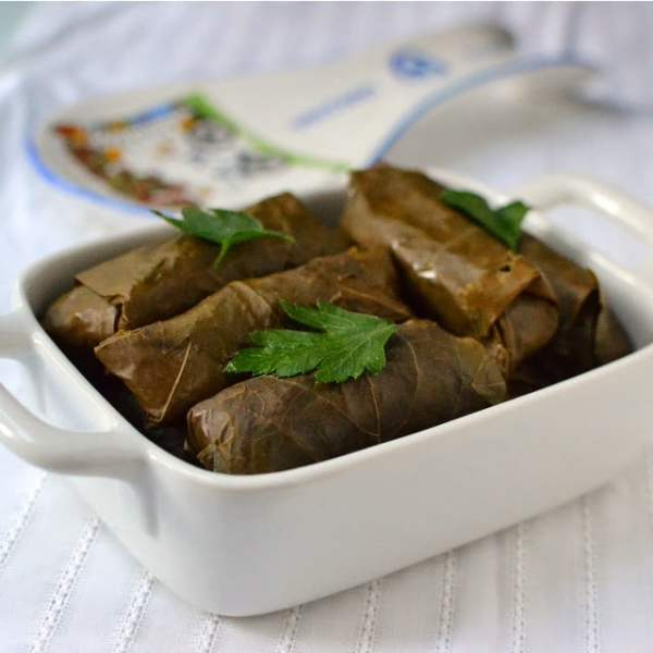 Turkish Sarma -- Stuffed Grape Leaves