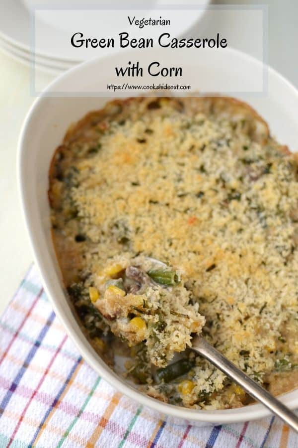 Pin photo for Thanksgiving vegetarian casserole