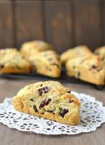 Cranberry-Pistachio Cream Scones