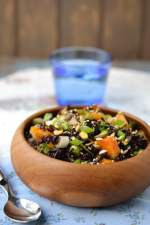 Black & Wild Rice Salad with Roasted Butternut Squash