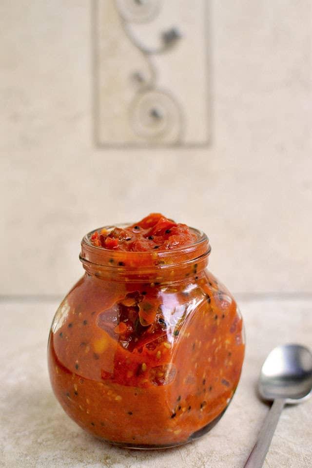 Cherry Tomato Pachadi (Cherry tomato Chutney)