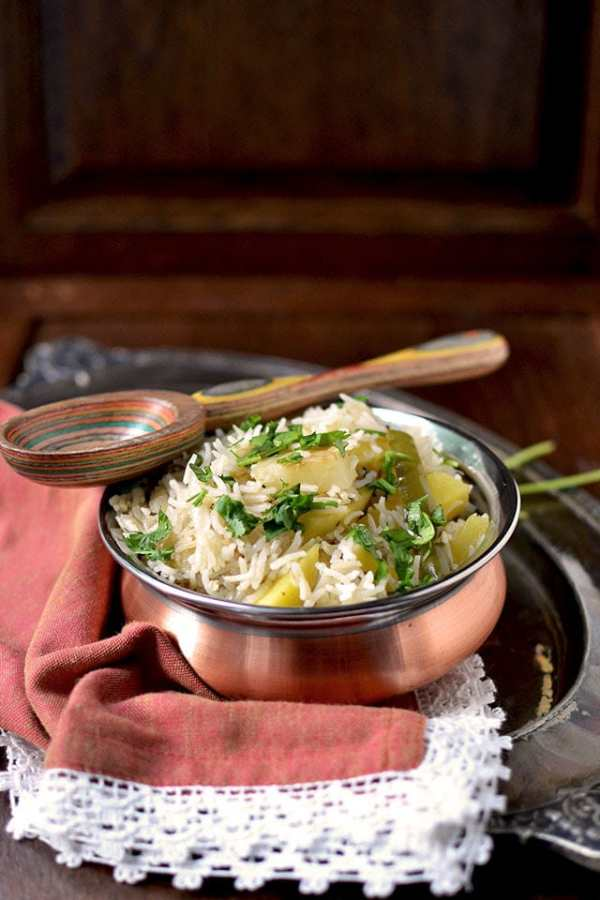 Green Mango-Potato Pulao