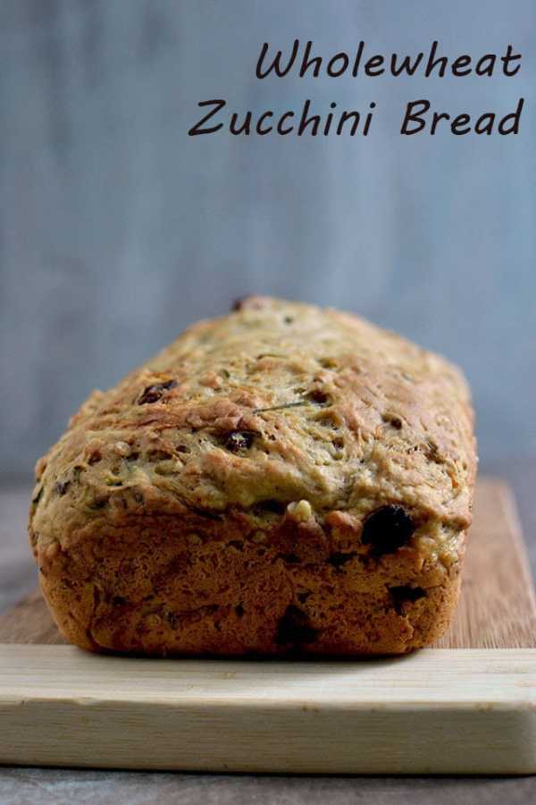 Wholewheat Zucchini Bread