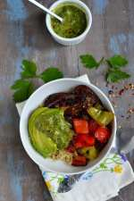 Quinoa and Roasted Vegetables with Chimichurri Sauce