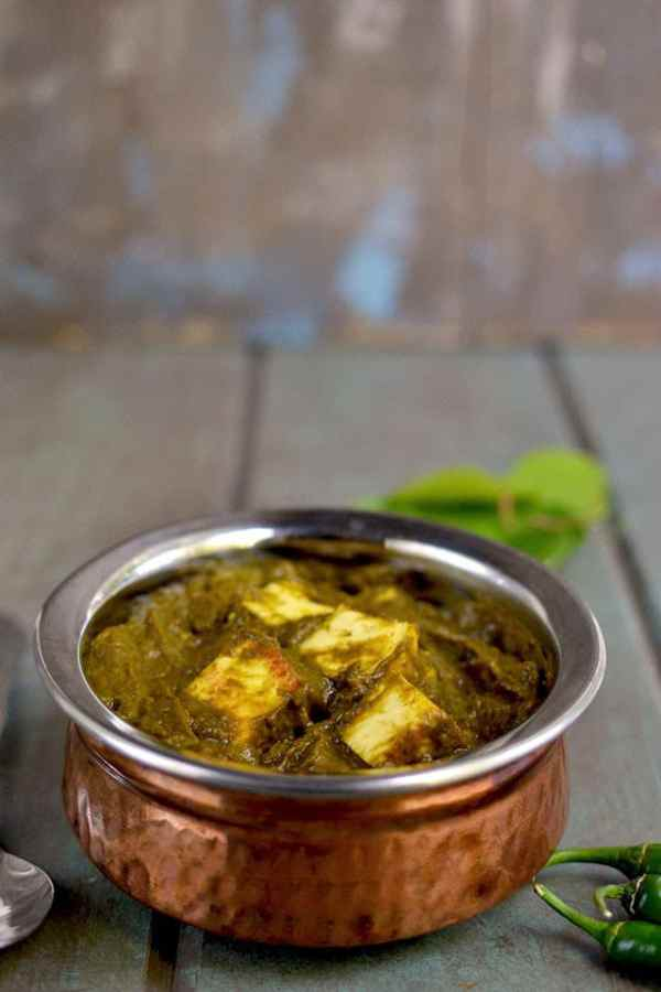 Gongura Paneer (Paneer with Sorrel Spinach)