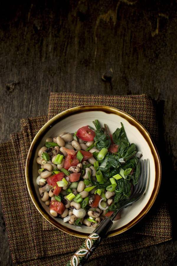 New Year's Black eyed Peas & Greens
