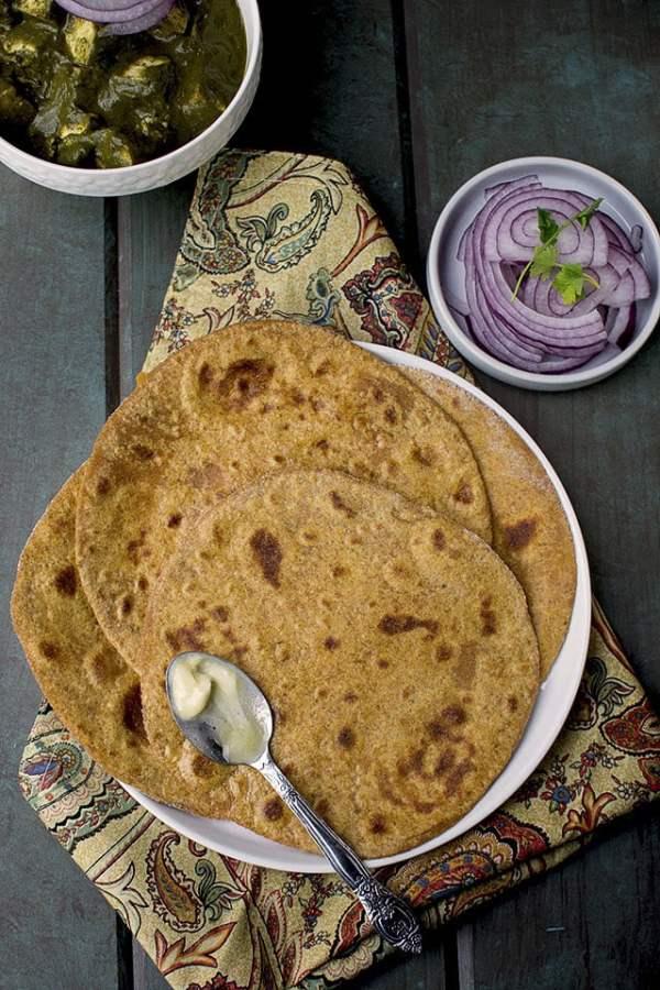 Spelt Sweet Potato Paratha