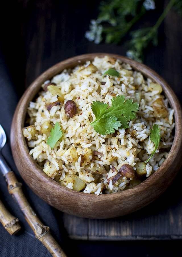 South Indian Style Potato Rice