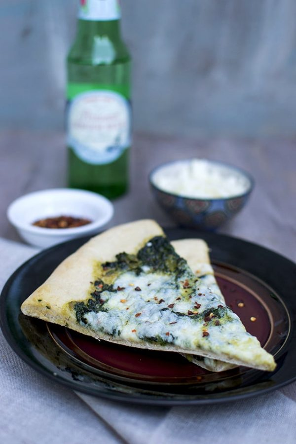 Saag Pizza on Instant Pizza Crust