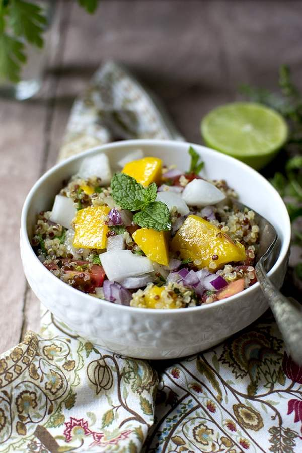 Quinoa Mango Salad for #Food of the World