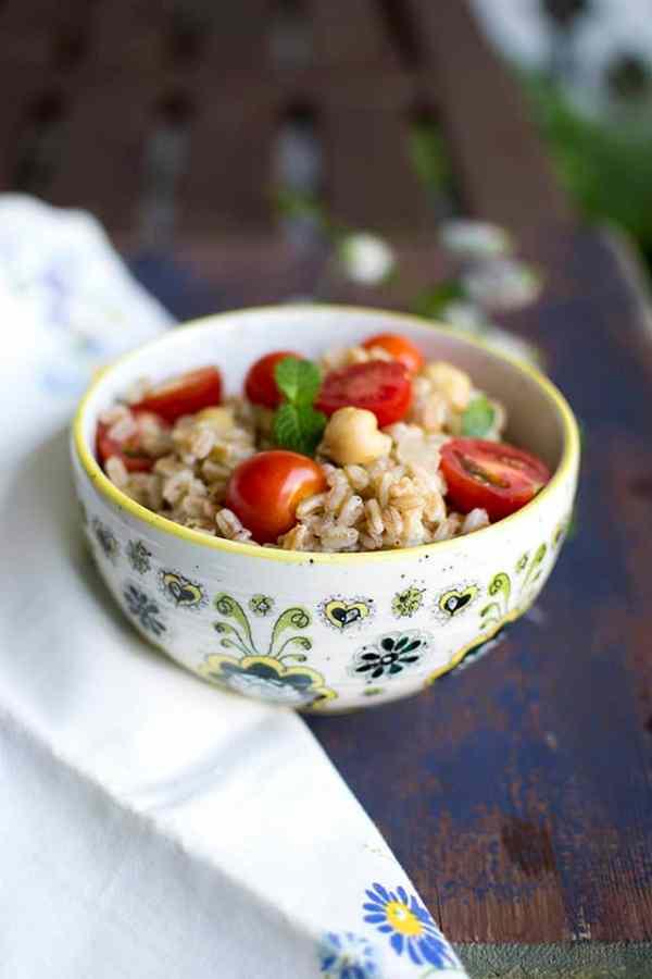 Farro, Chickpea & Feta Salad