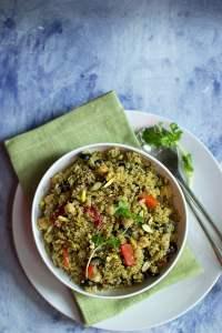 Quinoa salad with Pesto