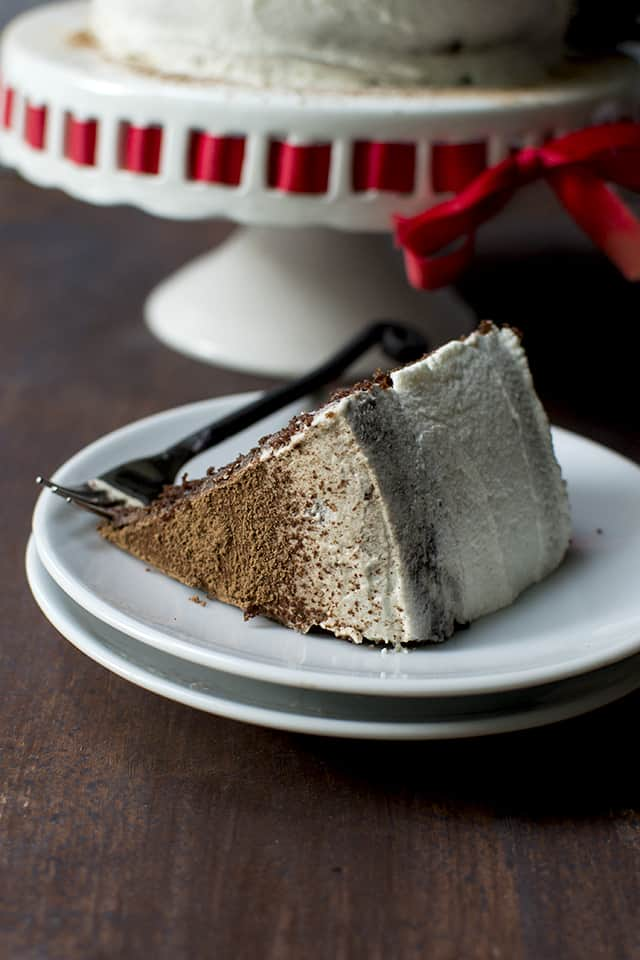 Eggless Mocha Cake with simple Mascarpone frosting