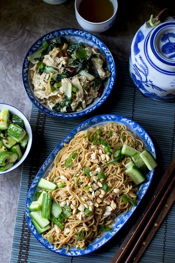 Chinese Cold Sesame Noodles (Liang Mian)