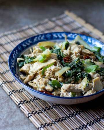 Yuba Noodles with Bok Choy