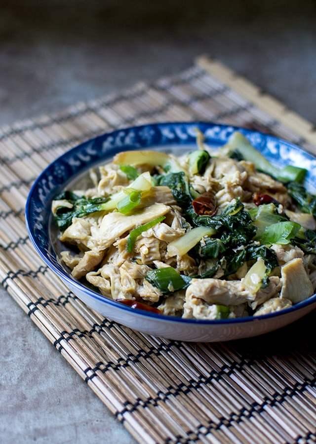 Yuba Noodles with Bok Choy