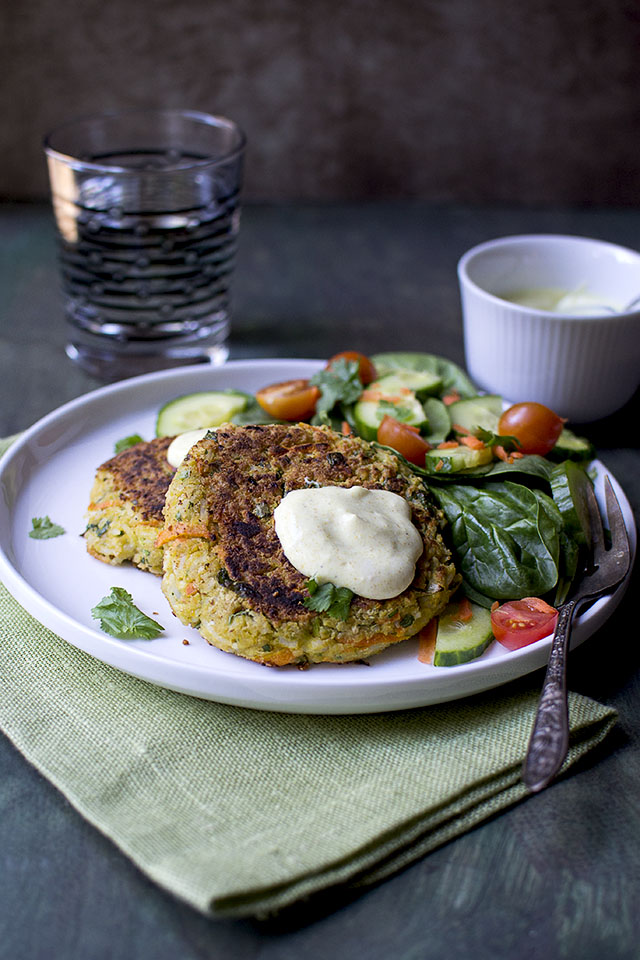 Vegetarian Burgers with Chickpeas and Rice