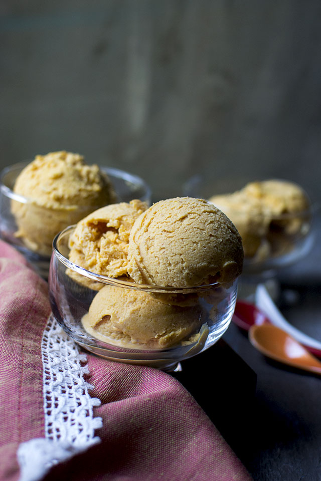 Eggless Pumpkin Gelato Recipe