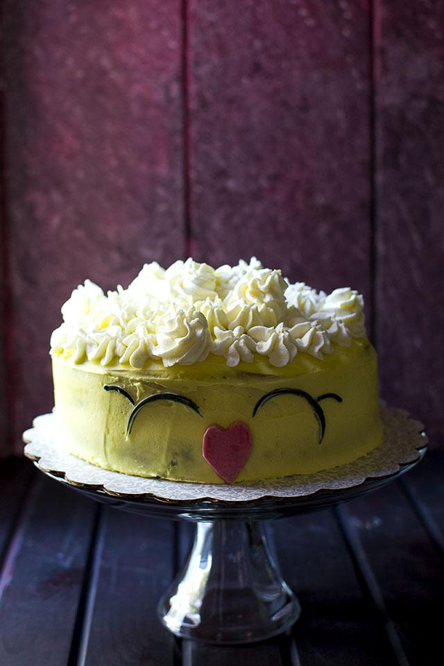 Eggless Confetti Cake (Shopkins Cake)
