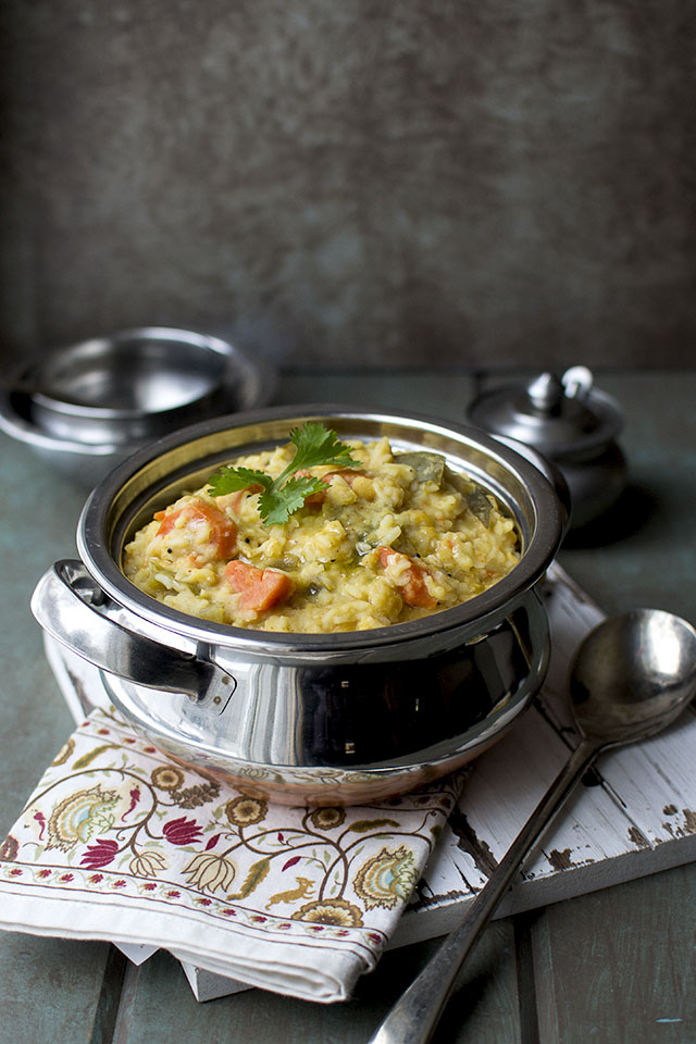 South Indian Mixed Vegetable Lentil Rice