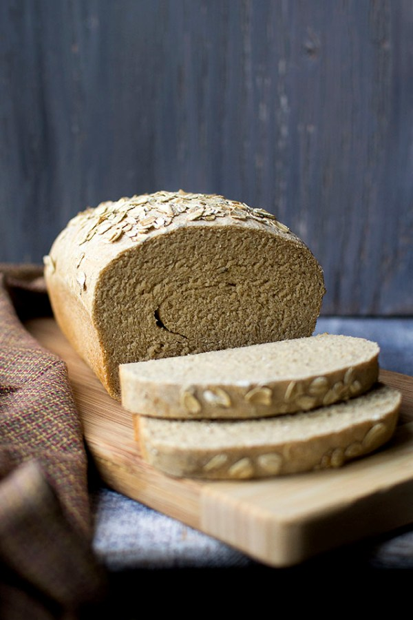 Whole Wheat White Bean Bread