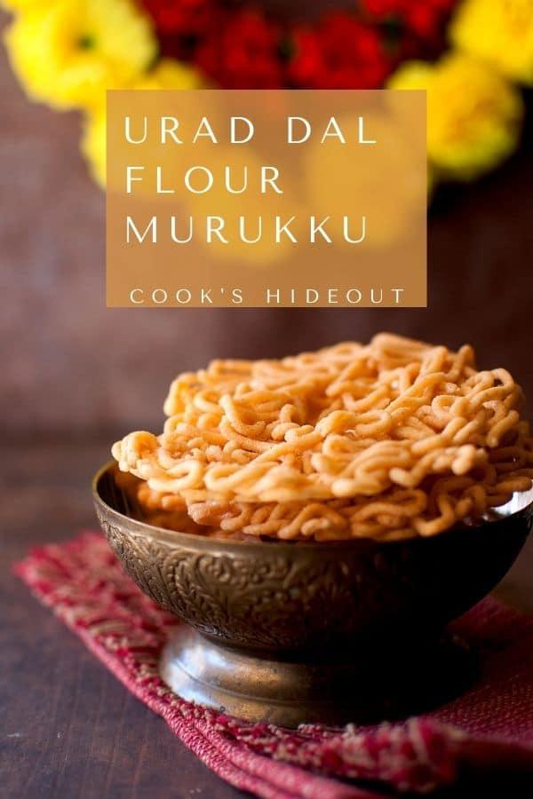 Murukku made with urad dal flour