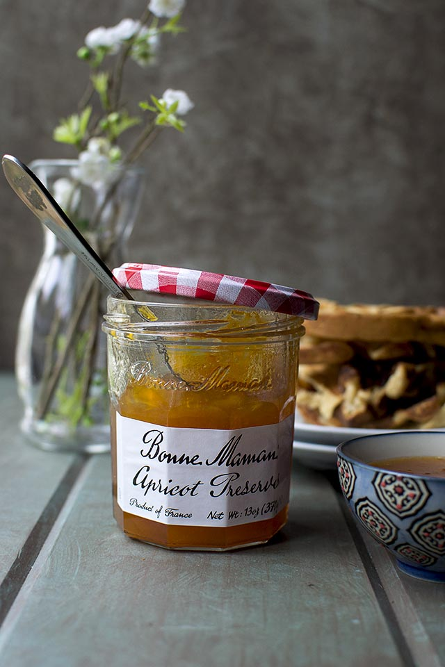 Apricot Preserves & Almond Waffles
