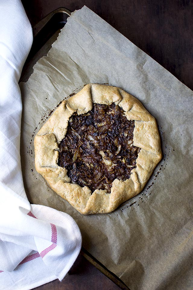 Galette with Caramelized Onions