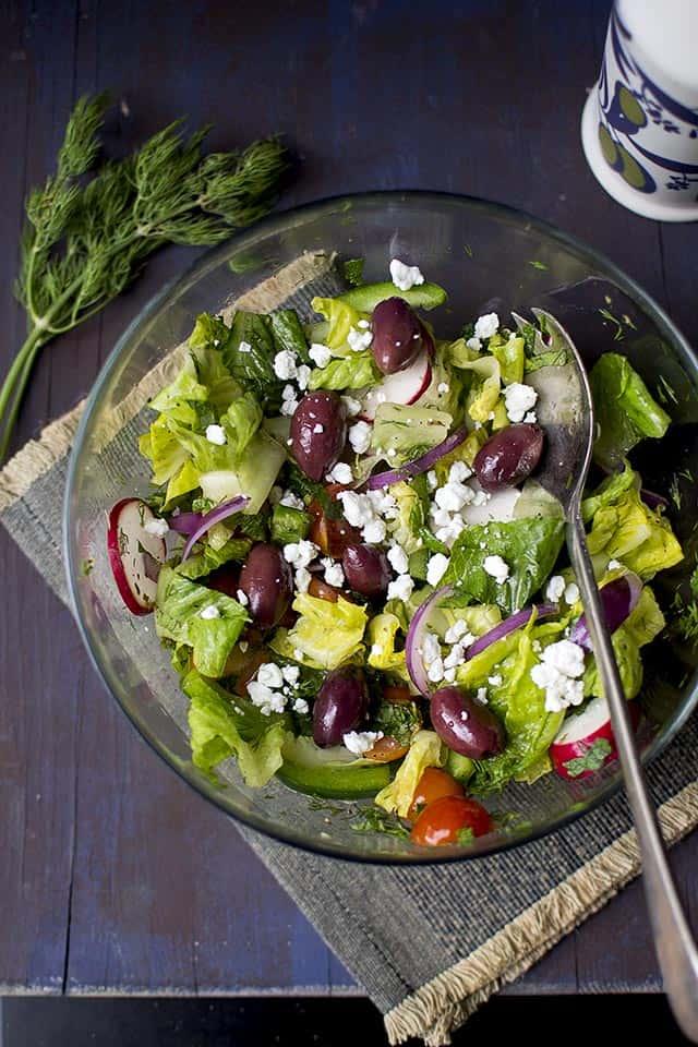 Vegetable Greek Salad