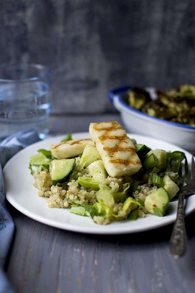 Quinoa Salad with Grilled Halloumi cheese