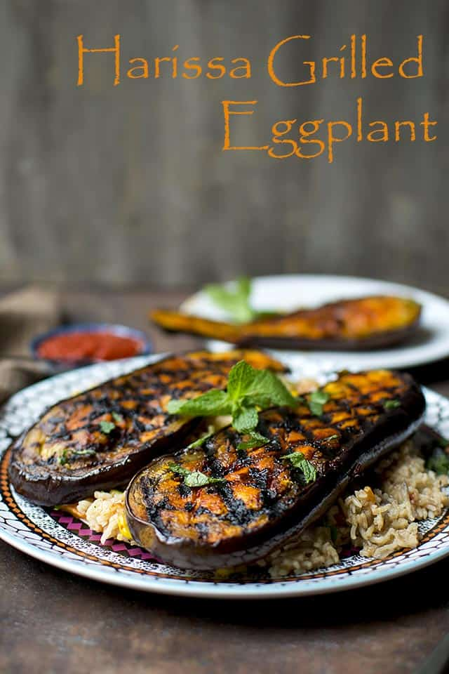 Harissa Grilled Eggplant (Vegan Recipe)