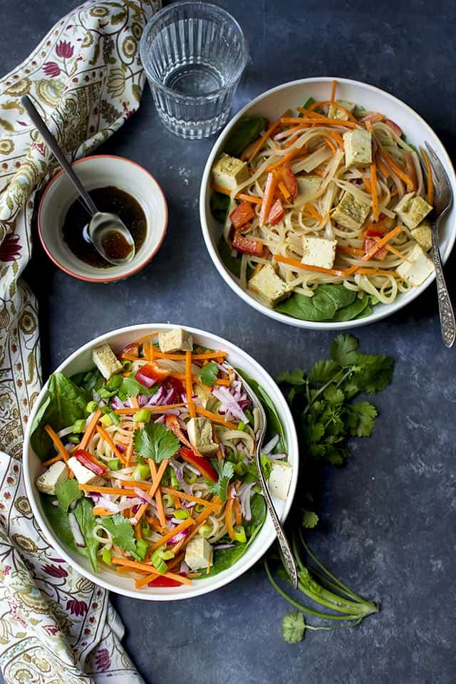 Pad Thai Noodle Salad (Vegan Recipe)
