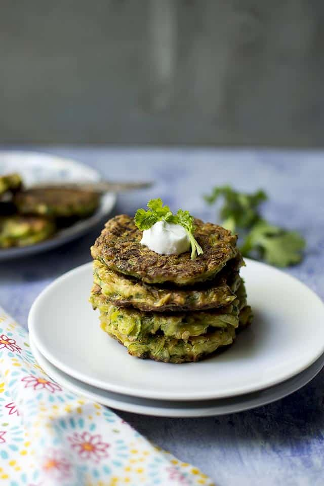 Indian style Zucchini Fritters
