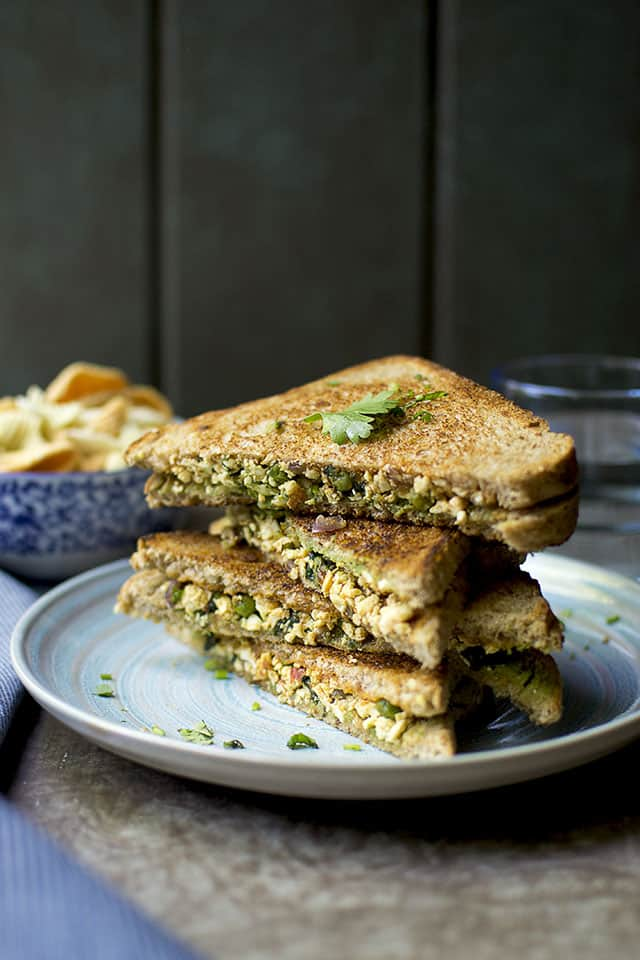 Sandwich with Paneer & Spinach