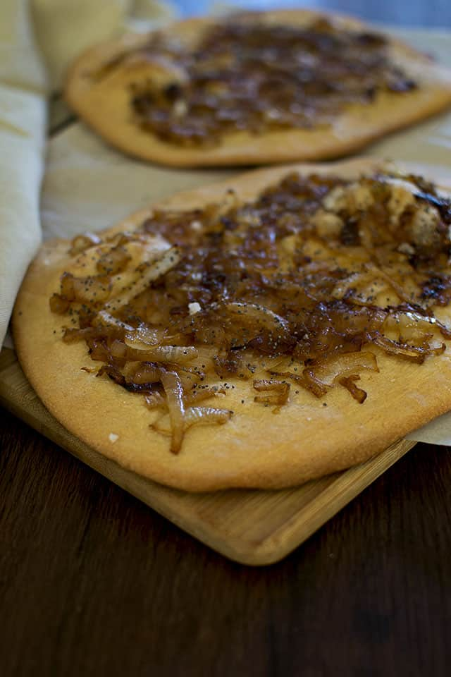 Jewish Pletzel with Caramelized Onions & Poppy seeds