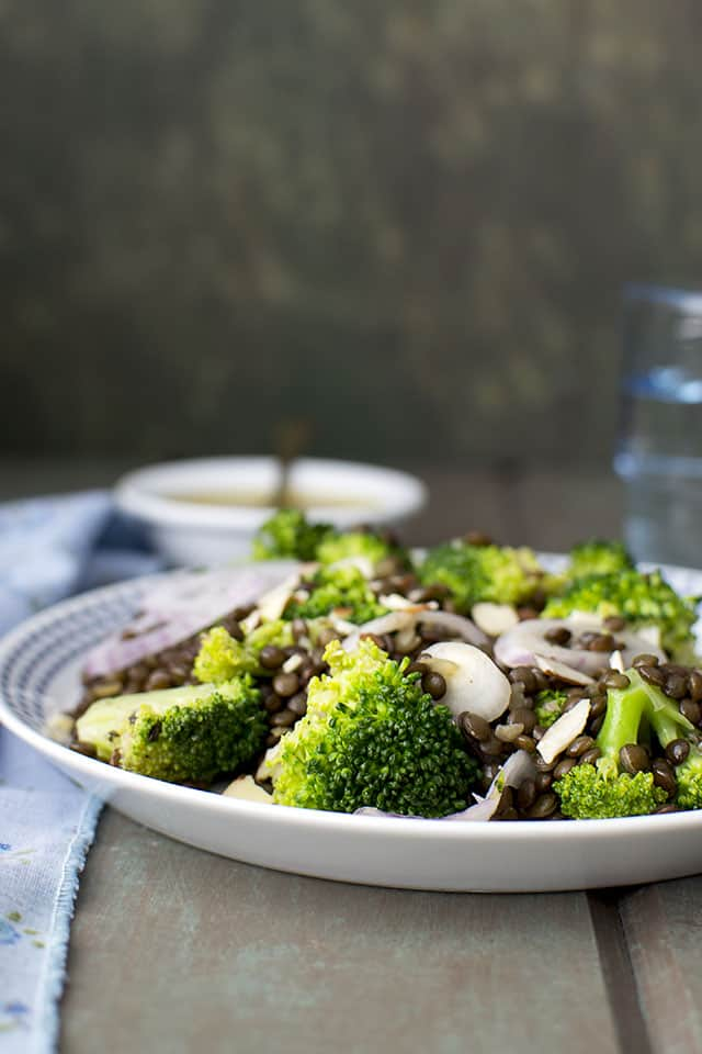 Black Lentil & Broccoli Salad