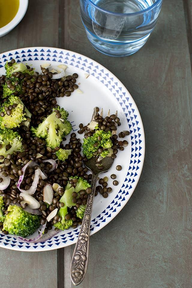 Black Lentil & Broccoli Salad