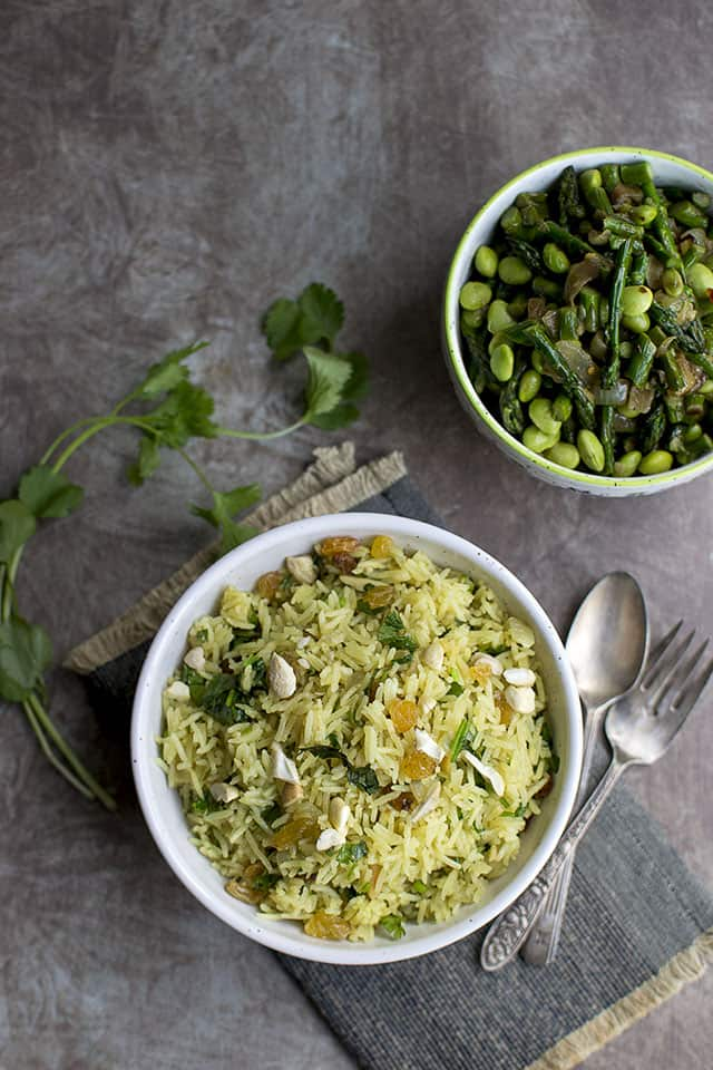 Curried Rice with Raisins and Cashews (Thanksgiving Side)