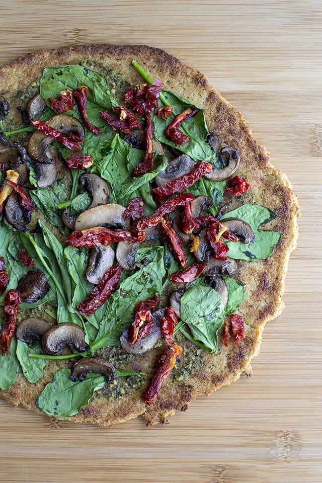 Cauliflower Crust Pizza (Vegan, Gluten free)