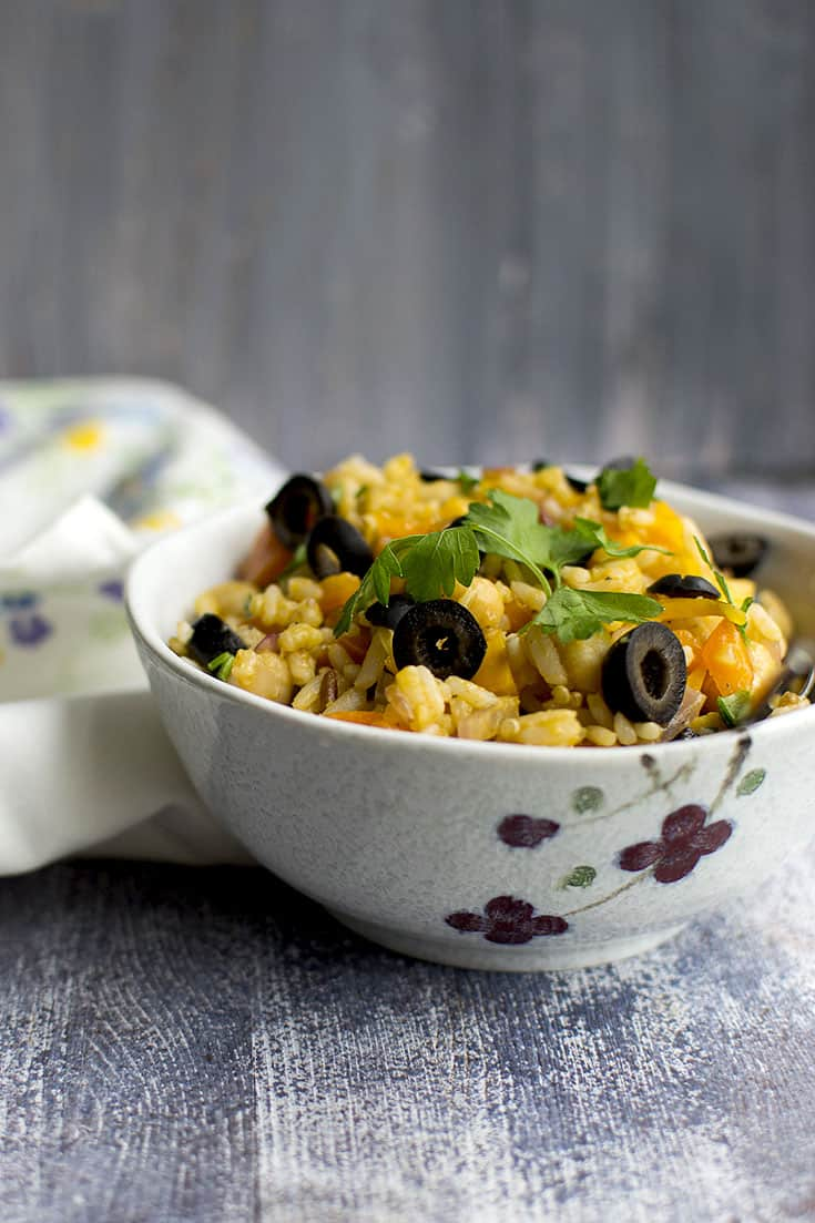 Mixed Grain Mediterranean Salad (Vegan Recipe)