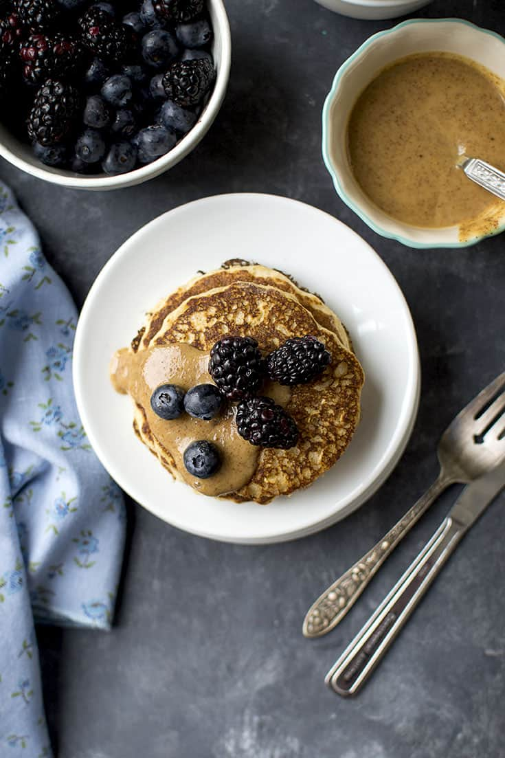 Pancakes with Rolled Oats